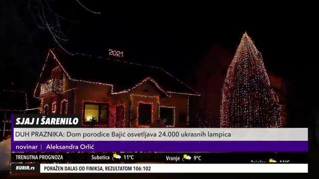 DA LI JE OVO NAJLEPŠE UKRAŠENA KUĆA U VOJVODINI? Dom Bajića osvetljava čak 24.000 ukrasnih lampica (KURIR TELEVIZIJA)