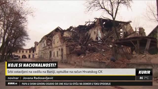 SKANDALOZNO! Hrvatski Crveni krst ne daje pomoć Srbima posle razornog zemljotresa (KURIR TELEVIZIJA)
