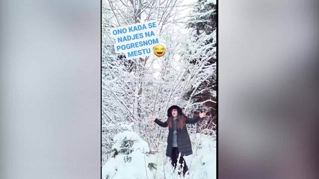 NA POGREŠNOM MESTU, U POGREŠNO VREME! Dragana Mirković ovako uživa u zimskoj idili, a onda joj se dogodio PEH! (VIDEO)