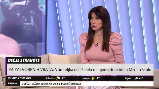 NISAM ŽELELA DA MI ĆERKU UČI NEKO KO DECU NAZIVA RUGOBOM: Snežana Dakić ODBILA da upiše mezimicu u Mikinu školu (KURIR TELEVIZIJA)